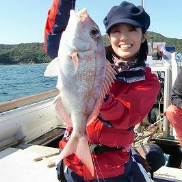 清水希香さんと鳴門の真鯛