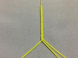 三つ編み結び-手順4