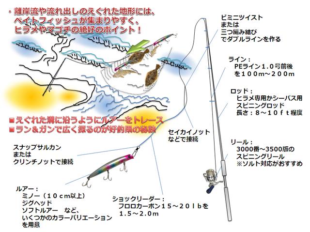 ヒラメ・マゴチのルアー釣り基本仕掛けと釣り方