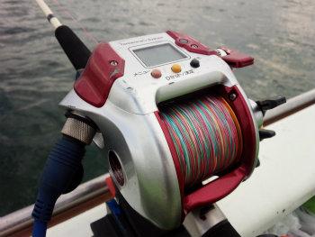 今釣れる魚に使う電動リール