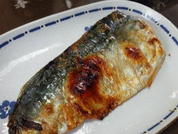 焼き塩サバ